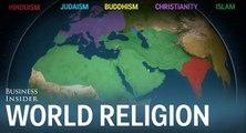 Une carte animée de la répartition des religions dans le monde en 5000 ans