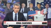 Republican and Democrat candidates in close contest in Iowa caucuses
