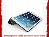 KHOMO Funda iPad Mini 4 - Carcasa Fibra de Carbono Negra Ultra Delgada con Soporte y Smart