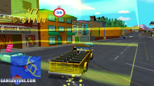 The Simpsons Road Rage Part 3 - Homers Pimped Car FTW