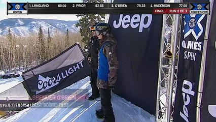 Spencer O'Brien wins Snowboard Slopestyle gold