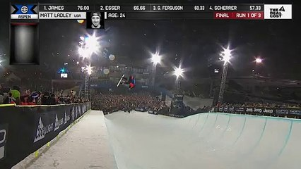 Matt Ladley wins first Snowboard Pipe X Games gold