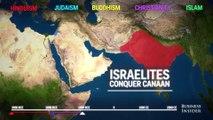 Un animation montre l'évolution de la répartition des religions en 5000 ans