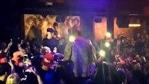 Justin Bieber with Tyga performing at 1 OAK Nightclub in Los Angeles