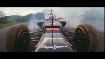 WOW this Formula 1 Car drives against Rugby Scrum with strong players!! Sevens Rugby