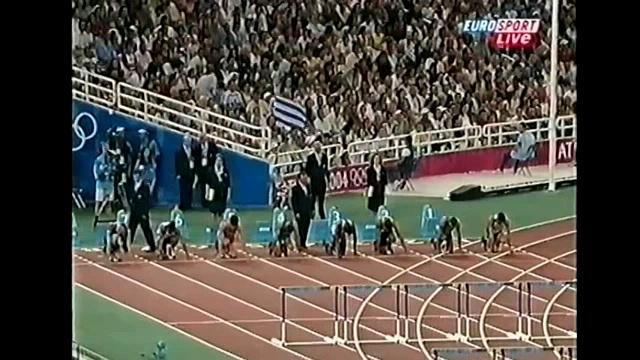 Олимпийские игры 2004, Афины, легкая атлетика (track and field), 110 метров с барьерами