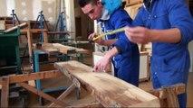 « Le bois sous tension » de la classe de 1ère bac pro ELEEC du Lycée professionnel Porte d'Aquitaine