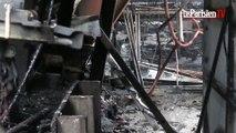 L'impressionnant incendie de Cergy a fait beaucoup de dégâts