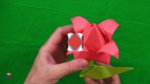 How to make an origami tulip. Speech and hand development. Educational videos for children.