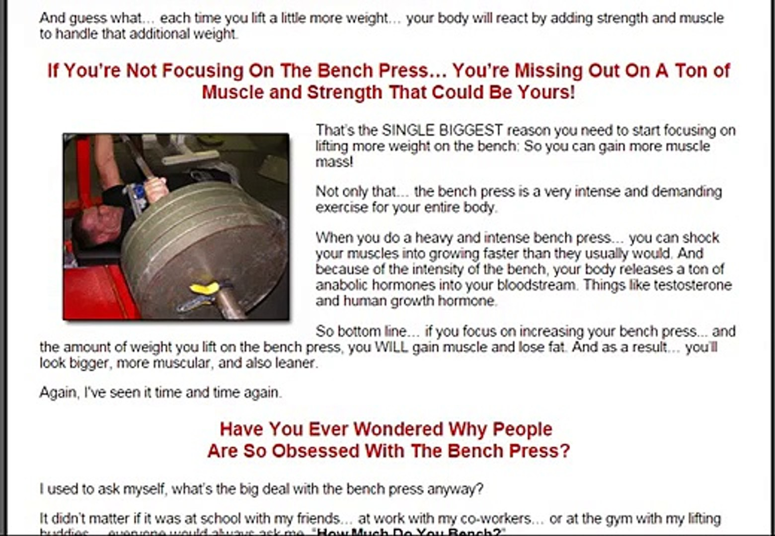Astonishing Increase Bench Press Program From Critical Bench Ibusinesslaw Wood Chair Design Ideas Ibusinesslaworg