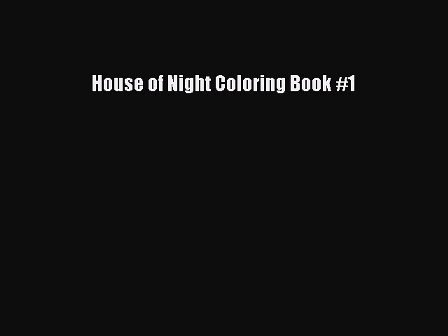 Pdf Download House Of Night Coloring Book 1 Download Full Ebook