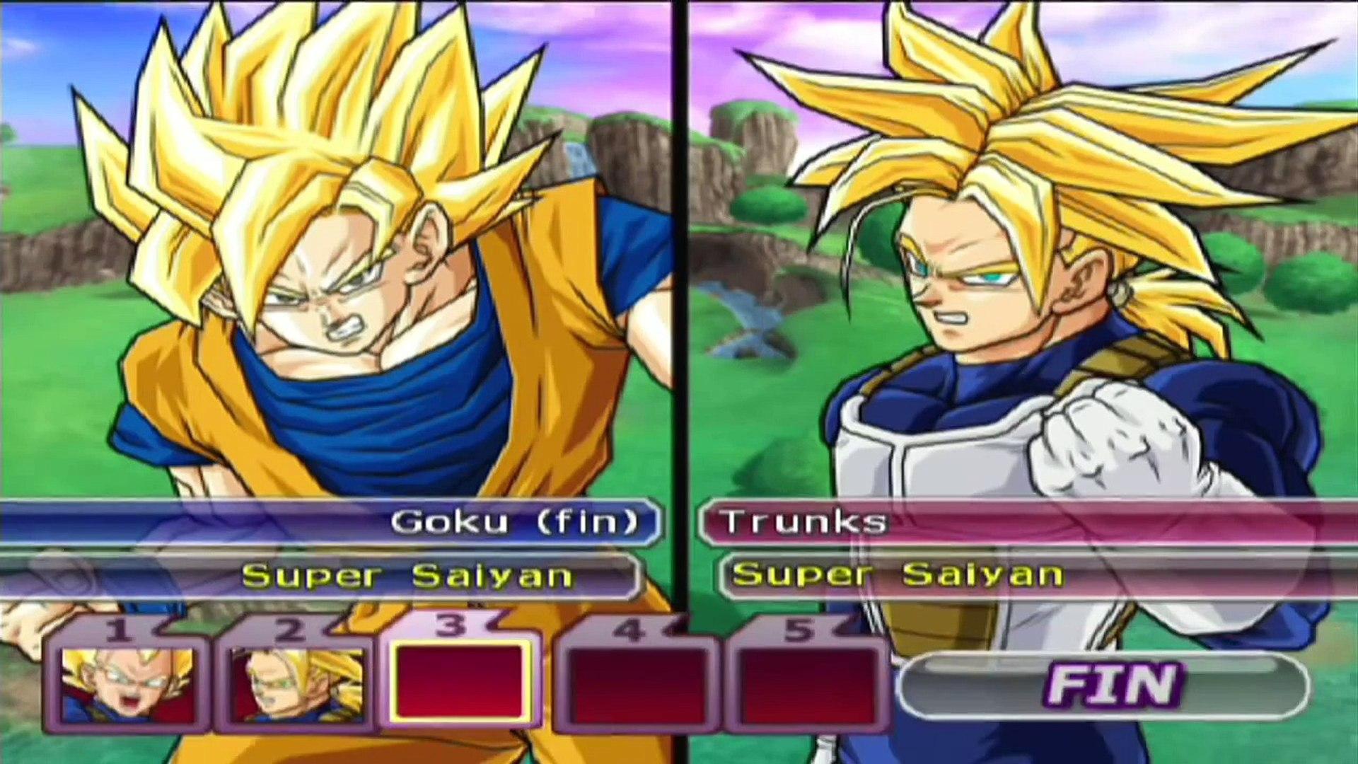 Dragon Ball Z Budokai Tenkaichi 3 Goku Gohan Vs Vegeta Trunks