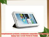 VEO | Funda Ultra Slim Para Samsung Galaxy TAB 2 7.0 Smart Case Ligera MARR?N