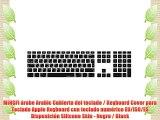 MiNGFi ?rabe Arabic Cubierta del teclado / Keyboard Cover para Teclado Apple Keyboard con teclado