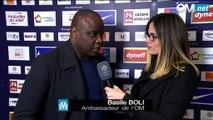 Montpellier 0-1 OM : la réaction de l'ambassadeur de l'OM, Basile Boli.