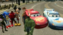 ★Lightning McQueen★ Dinoco Disney Pixar Cars and Spiderman Mickey Mouse Hulk Woody & N