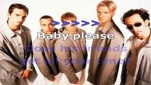 Backstreet Boys - All I have to give - karaoke lyrics