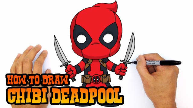 How to Draw Chibi Deadpool- Step by Step Drawing Lesson