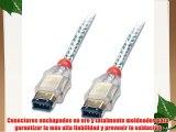 Lindy 30868 - Cable FireWire premium 6 pin macho a 6 pin macho 25 m color transparente