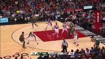 Miles Plumlee Dunks Over Mason Plumlee - Bucks vs Trail Blazers | 2016 NBA Season (FULL HD)