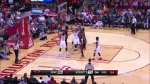 Dwyane Wade Denies Terrence Jones' Dunk Attempt - Heat vs Rockets - Feb 2, 2016 - NBA 2015-16 Season