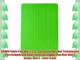 KHOMO Funda iPad Mini 1 2 3 - Carcasa Verde Semi Transparente Ultra Delgada con Smart Cover