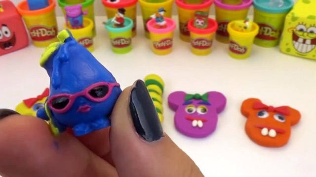 Peppa Pig Play Doh Mickey Mouse Surprise Eggs Minnie Mouse Shopkins