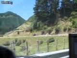 Troupeau de moutons impressionnant envahit une route en Nouvelle Zélande