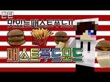 다양한 햄버거와 콜라가 추가된 패스트 푸드 모드! 마크 패스트푸드 모드 [양띵TV눈꽃] Minecraft fast food mod