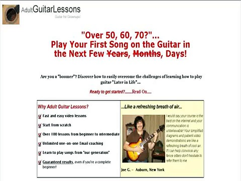 """Adult Guitar Lessons"""
