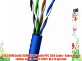C2G 305M Cat5E 350MHz UTP Solid PVC CMR Cable - Cable de red (305m Cat5e U/UTP (UTP) 10215
