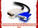 C2G 3m DVI-A Male to HD15 VGA Female Analogue Extension Cable - adaptadores de cable de v?deo
