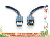 Clicktronic Casual - Cable alargador USB 3.0 (conector USB 3.0 macho a conector USB 3.0 hembra)