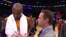Kobe Bryant Postgame Interview | Timberwolves vs Lakers | February 2, 2016 | NBA 2015-16 Season