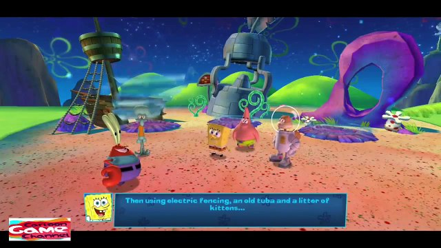 SpongeBob SquarePants Movie - All Cutscenes of Planktons Robotic Revenge Game in English HD