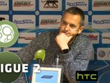 Conférence de presse AJ Auxerre - Evian TG FC (3-1) : Jean-Luc VANNUCHI (AJA) - Romain REVELLI (EVIAN) - 2015/2016