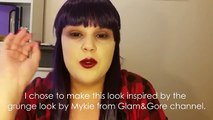 90s GRUNGE MAKEUP TUTORIAL FOR ACNE/ROSACEA (Mykie|Glam&Gore inspired) | Fubuki Cosplay