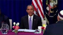 Obama Visits Mosque, Thanks Muslims