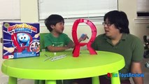 082 BOOM BOOM BALLOON Family Fun Balloon Pop Challenge Egg Surprise Toys Ryan ToysReview
