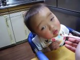 Funny baby makes every body laughing