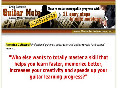 """""""Guitar Note Mastery"""""""