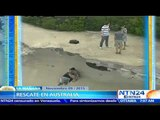 ¡Asombroso rescate! adolescentes quedan atrapados en una zona alta de un acantilado