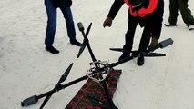 A ski, il se fait tracter par un drone !