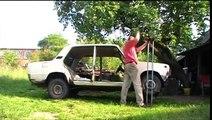 Самодельный одностоечный опрокидыватель авто