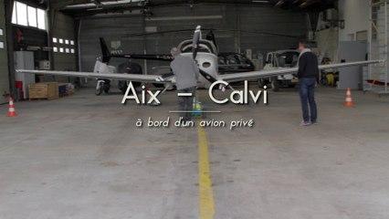 Aix - Calvi, en jet privé