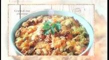 Ricetta veloce Gratin di riso al curry e verza,Quick recipe Gratin of curry rice and cabbage,