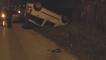 Gricignano (CE) - Brutto incidente, auto si ribalta e conducenti in ospedale (04.02.16)