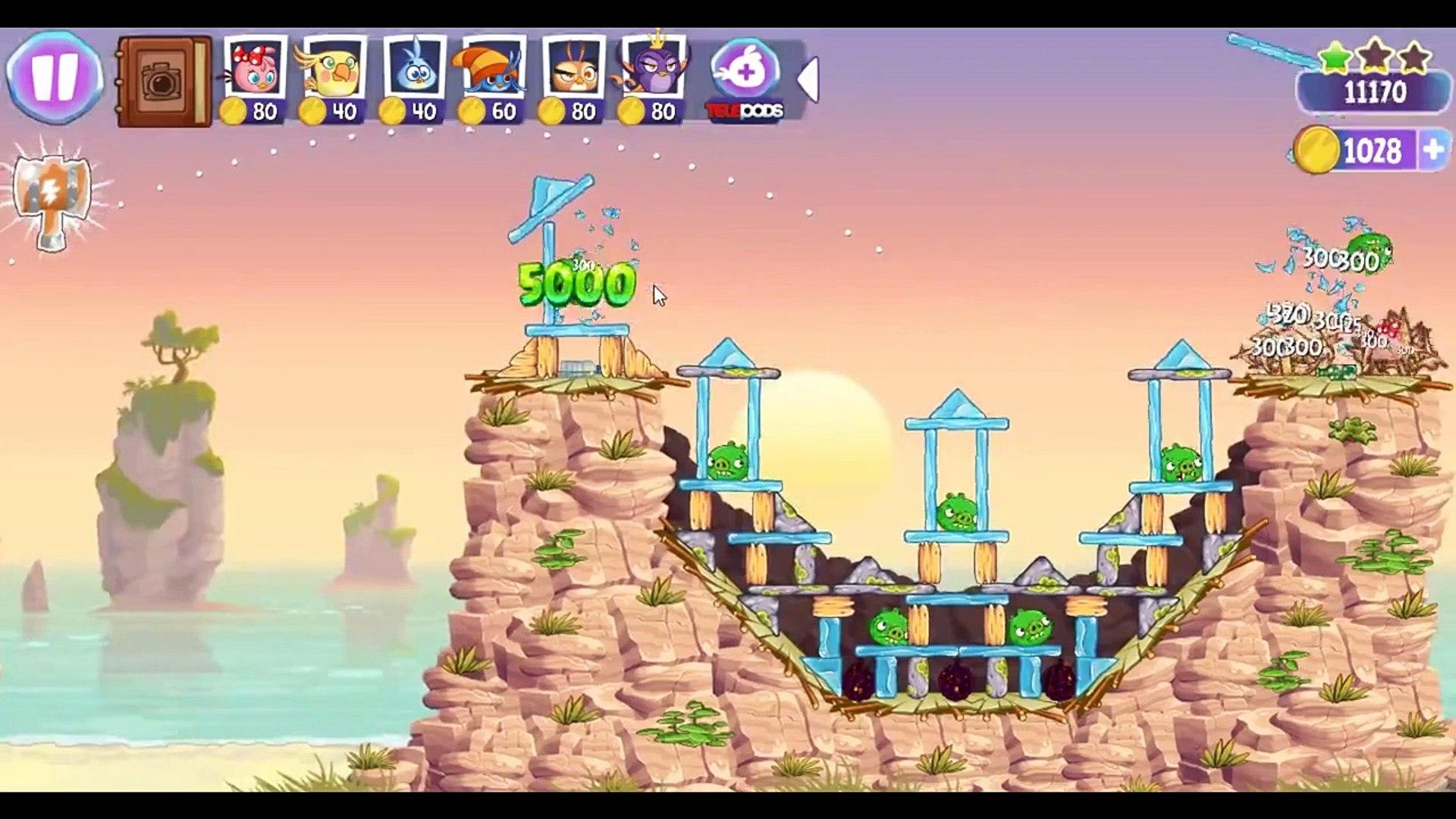 Angry Birds Stella Level 17 Episode 2 Walkthrough ★★★ Beach Day