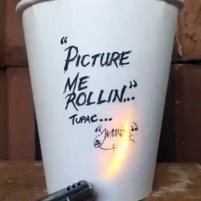 PICTURE ME ROLLIN COFFEE CUP ART