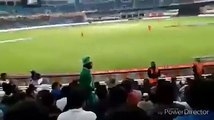People shouting Go Nawaz GO and i i Pti during PSL match